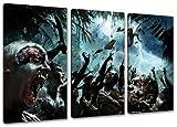 dead island 3-teilig auf Leinwand- Gesamtformat: 120x80 cm fertig gerahmte Kunstdruckbilder als Wandbild - Billiger als Ölbild oder Gemälde - KEIN Poster oder Plakat