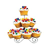 3, 4 OR 5 TIER CHROME METAL CUPCAKE BIRTHDAY DECORATION PARTY TOWER CAKE DISPLAY STAND HOLDER CARRIER