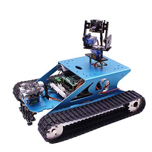 H0_V Professionelles Kit für Arduino UNO - Panzer Smart Robotic Kit - WiFi Wireless Video Programmierung Elektronisches Spielzeug DIY Roboter Kit Kompatibel RPI 3B/3B +(Ohne Raspberry Pi) (Roboter-diy)