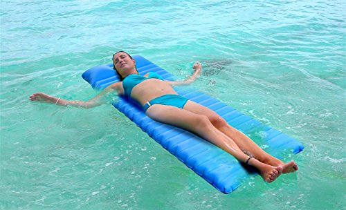 51%2B6mw82XML - iNeibo Ultralight Self Inflating Sleeping Pad with Free Pump Pillow - Inflatable Mat Air Mattress for Backpacking, Camping and Hiking, Easy to Carry and Fast Inflate (Blue)