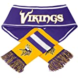 Minnesota Vikings NFL 2013 Team Wordmark Knit Scarf