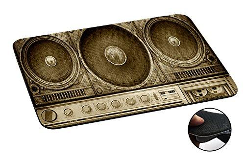Aztec Music Box (069 - Stereo Fun Boom Box Vintage Music Design Macbook PC Laptop Anti-slip Mousepad Mouse Mat Tpu Leather Stark haftende Unterseite für optimalen Halt)