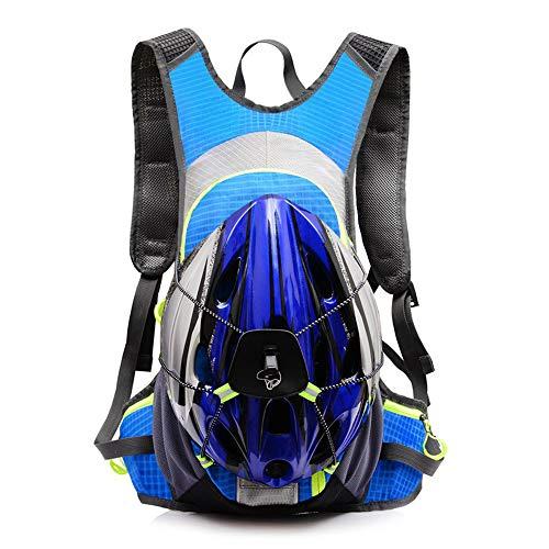 NAN Outdoor Riding Backpack Uomini e Donne Viaggiano a Tracolla Impermeabile Ultra Leggera con Tracoll,Blue