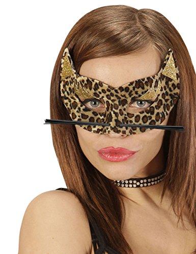 WIDMANN Générique - Wolf, Leopardenmuster, Damen (Leopard Kostüm Maske)