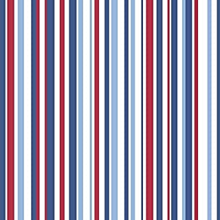 Arthouse 533602 Super Stripe Wallpaper, Blue, 53 cm x 10.05 m