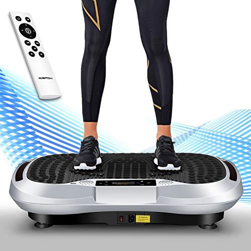 Icefox Profi Vibrationsplatte,3D Dual-Motor Fitness vibration plate mit Bluetooth 4.0 Lautsprecher / LCD Display & Fernbedienung /10 Trainings-Programme-180 Level