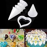 seguryy - Stampo in silicone per decorazioni di pasta di zucchero, confezione da 6 pezzi, motivo: fiore calla