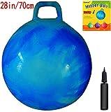 Retro Hopper - Ballons sauteur Gymnastique - 70 cm de diamètre (taille adulte) - Saut Kangourou - Pompe incluse - Bleu
