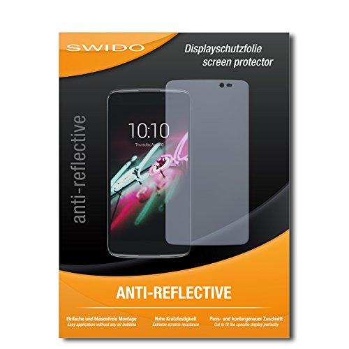 SWIDO Bildschirmschutz für Alcatel One Touch Idol 3C [4 Stück] Anti-Reflex MATT Entspiegelnd, Hoher Härtegrad, Schutz vor Kratzer/Glasfolie, Schutzfolie, Bildschirmschutzfolie, Panzerglas Folie