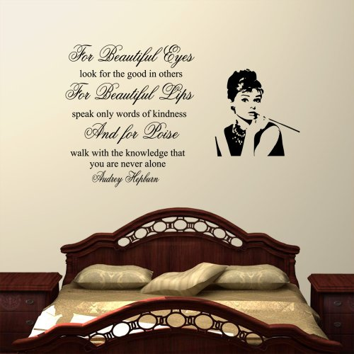 audrey-hepburn-for-beautiful-eyes-deko-wandsticker-fr-wohnzimmer-schlafzimmer-flur-gre-medium