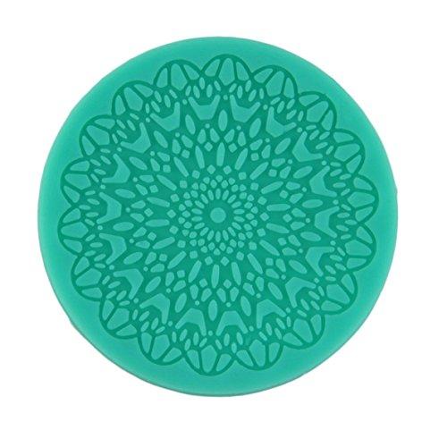Noradtjcca Grüne Kuchen dekorieren Tools runde Spitze geformt weiche silikonform Fondant Kuchen Dekoration backen Tool kit küche zubehör (Kuchen Dekoration Spitzen)