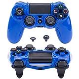 Pandaren® Ultra Rüstung Gang FPS Schale Gehäuse für PS4 Controller (blau)