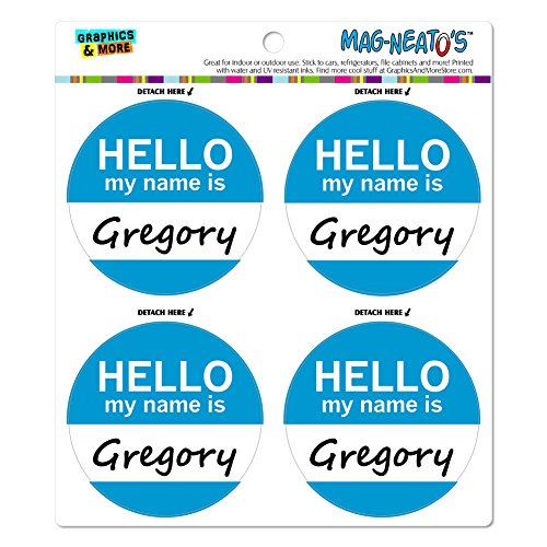 Preisvergleich Produktbild Gregory Hello My Name Is Mag-Neato 's-TM) Automotive Car Kühlschrank Locker Vinyl Magnet Set