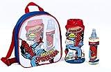Marvel The Amazing Spiderman Coffret Cadeau Eau de Cologne, poche pour, bain moussant et shampooing 2en 1, 1er Pack (1x Lot de 3)