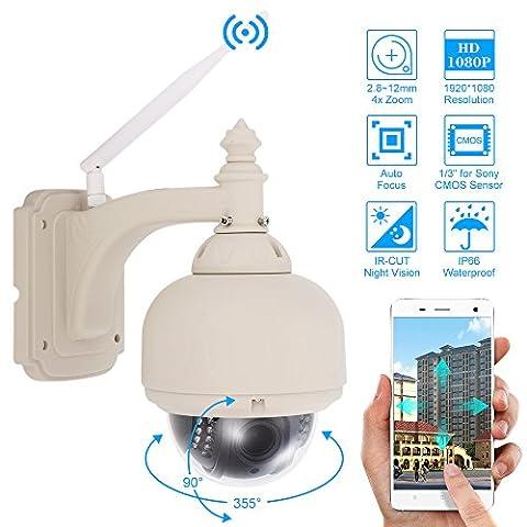 szsinocam 1080P HD IP PTZ WiFi Outdoor CCTV camera 3.5