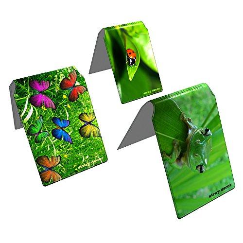 Stray Decor (Green) 3x Buspass/ Fahrkartenhalter im Brieftaschenformat, IsarCard, fahrCard, RMV Clevercard, Kolibricard oder Karteninhaber auf Reisen Kombi (Seite 2 Id-card-inhaber)