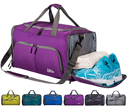 CoCoMall Foldable Sports Gym Bag...