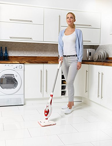 Hoover SteamJet S2IN1300A 2-in-1 Handheld Steam Mop, 1300 W, White