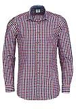 OLYMP Hemd Trachtenhemd Level 5 Body Fit Rot/Blau, Größe XXL