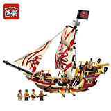 #1: Enlighten Pirate Ship Boat 4 Figure Building Block 368pcs- Without Original Box