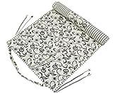 Shalinindia Yogamat per donne e ragazze Cotone stampato reversibile attenuato - 100 GSM - Cream White - 70X30 pollici