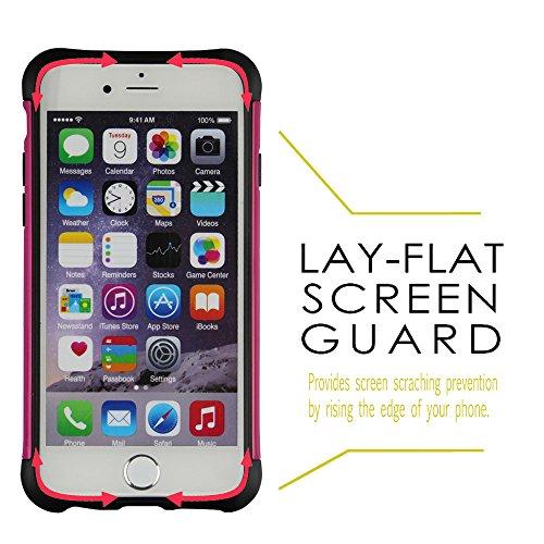 """xhorizon® SchwerlastSchild Hart/Weich Hybrid Schale DoppelschichtHülle Case Für iPhone 6 (4.7"""")/iPhone 6 Plus (5.5"""") iPhone 6 Rosa"""