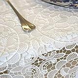 Eeayygch Tischdecke aus Makramee-Spitze, Tischdecke aus dickem Stoff, rechteckig & längliche Tischdecke für Hochzeiten A 100 x 150 cm, A, 110x110cm(43x43inch)