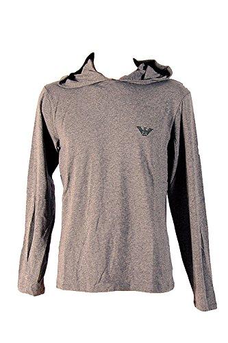 Emporio Armani Flash Hooded Sweater Longsleeve Langarm Shirt mit Kapuze M Dark Grey Melange (06749)
