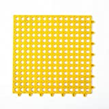 Fußmatte Clode Badezimmer Teppich Teppich Wohnzimmer Schlafzimmer Teppich Teppich rutschfeste Bodenmatte 30x30cm (Gelb)