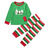 Familie Weihnachts Kleidung Weihnachten Pyjama Schlafanzug Familie Weihnachts Xmas Nachtwäsche Hausanzug Sleepwear Damen Herren Kinder Nachtwäsche Top+Stripe Pants Family Clothes Pajamas