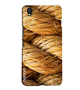 Omnam Rope Art Pic Printed Designer Back Cover Case For One Plus X