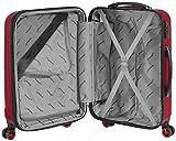 Packenger Velvet Koffer, Trolley, Hartschale  3er-Set in Rot, Größe M, L und XL - 9