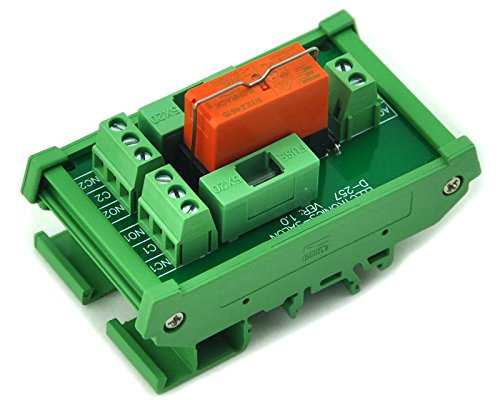 Electronics-Salon DIN Rail Mount Fusing DPDT 8 A Power Relay Interface Modul, AC Coil 115 V Relais. -