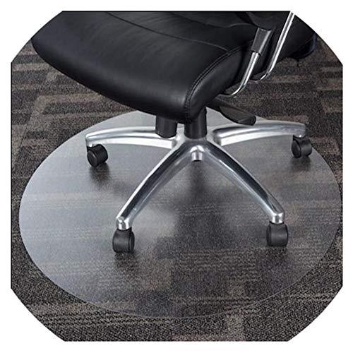 WUZMING-Bodenschutzmatte Rund Kunststoff Teppich rutschfest Haushalt Hartholzbodenschutz PVC Durchscheinend, 16 Größen (Color : 1mm, Size : 80cm)