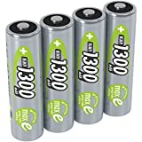 ANSMANN AA NiMH Rechargeable Batteries - Recharge capacity of 1300mAh - Pack of