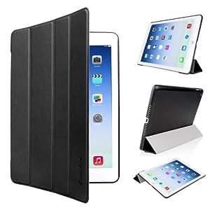 iPad Air Hülle, EasyAcc Ultra Slim iPad Air 2013 Hülle Case Cover Schutzhülle Bumper Lederhülle mit Standfunktion / Auto Sleep Wake up für iPad Air 2013 (Modellnummer A1474 A1475 A1476) - Schwarz, Ultra Slim