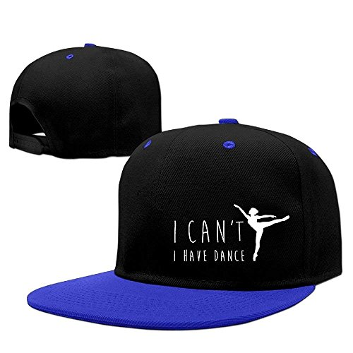 Aeykis I Can't Ballet I Have Dance Hip Hop Baseball Caps Breathable Flat Bill Plain Snapback Hats White Plain Womens Ballet Flats