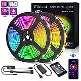 Elfeland LED Streifen 10M LED Stripes LED Bänder WiFi steuerbar via App LED Strip RGB 5050SMD 300...