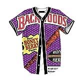 Raylans Herren Kurzarm T-Shirt Hip Hop 3D Druck Baseball Hemd Tops