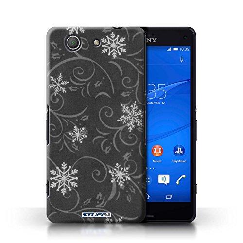 Kobalt® Imprimé Etui / Coque pour Sony Xperia Z3 Compact / Noir conception / Série Motif flocon de neige Noir
