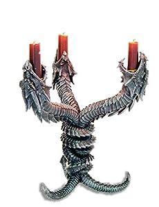 KATERINA PRESTIGE - Candelabro con Tres Dragones Enlaces (BROHF0643), Multicolor