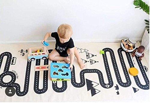 Reasoncool Tappeto Per Cartone animato Bambini infantile Strisciante Stuoia playmat Coperta Gioca il gioco Mat Decorazione della stanza,Dimensione:125x70cm (Labirinto)