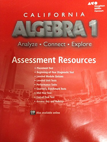 Holt McDougal Algebra 1 California: Assessment Resources (Holt Mcdougal Algebra 1)