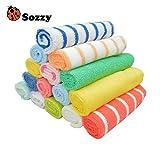 Espeedy 8 piezas/Set Sozzy bebé niños toalla niño pequeño baño suave pañuelo trapo toallitas