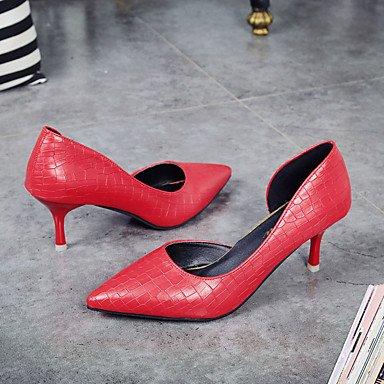 Wsx & Plm Pour Les Femmes-talons-bureau Et Formelle Travail Formel Soir Et Fête-confortable-a Stiletto-pu (polyuréthane) -noir Rouge Blanc Argent Doré Noir