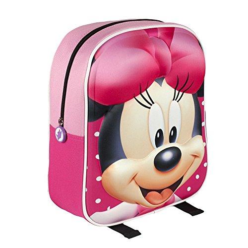 Artesanía Cerdá, Zaino infantile con stampa 3D Minnie Mouse, Rosa, 31 cm