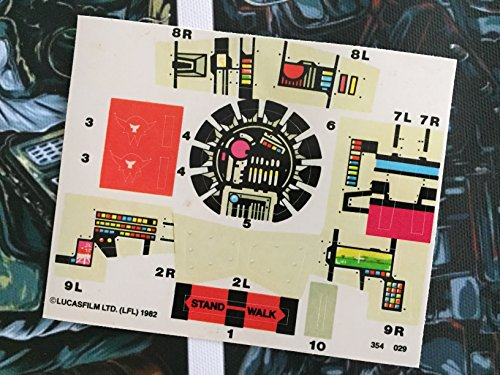 Star wars vintage custom repro die cut stickers decals labels imperial at st at st scout walker 1982