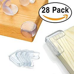 Aglods 28 Pack Baby Proofing Corner Guards Furniture Corner Edge Safety Bumpers with Adhesive By Agolds (Triangle & Ball Shaped)