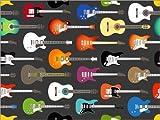 Posterlounge Leinwandbild 120 x 90 cm: Gitarren-Muster von Kidz Collection/Editors Choice - fertiges Wandbild, Bild auf Keilrahmen, Fertigbild auf echter Leinwand, Leinwanddruck