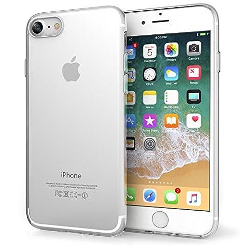 Coque Pour iPhone 8 & iPhone 7 Par Centopi - Anti Rayures - Ultra-Mince & A Poids-Plume - Non Obstructive - En Gel de Silicone TPU Mince Souple - Claire Cristallin